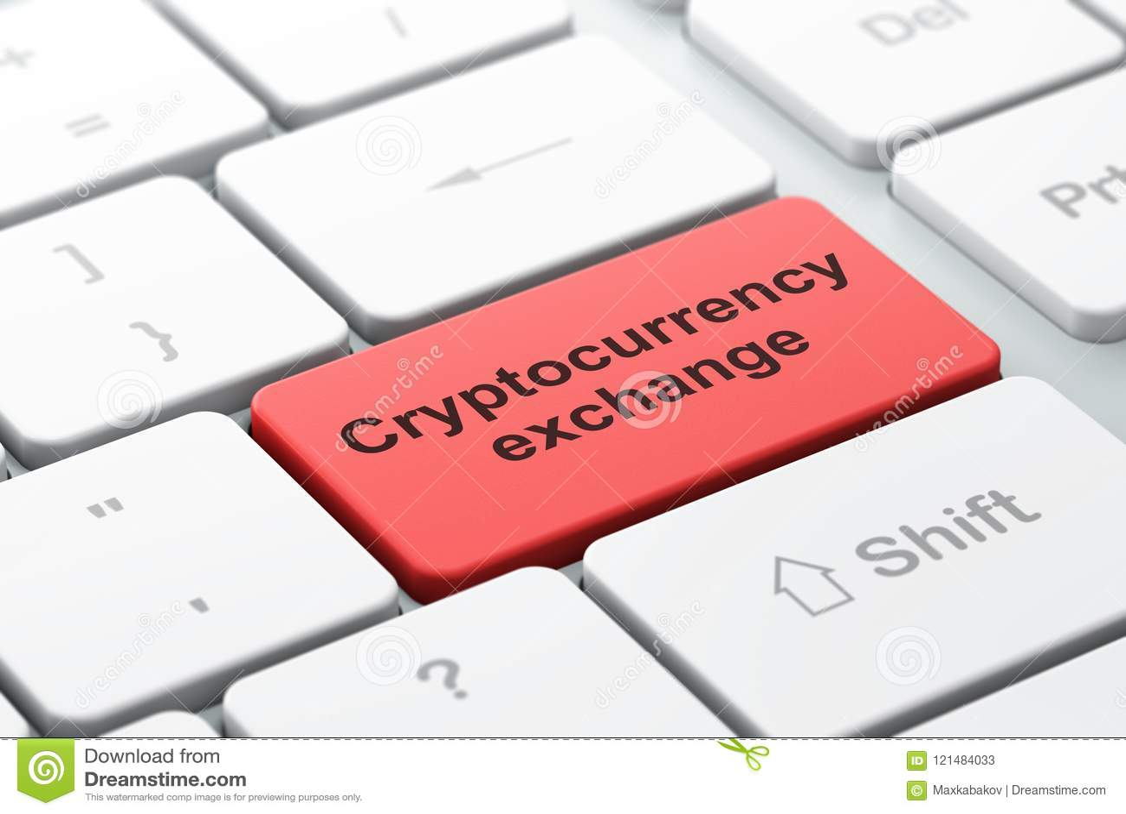 Έννοια Blockchain: Ανταλλαγή Cryptocurrency στο υπόβαθρο πληκτρολογίων υπολογιστών
