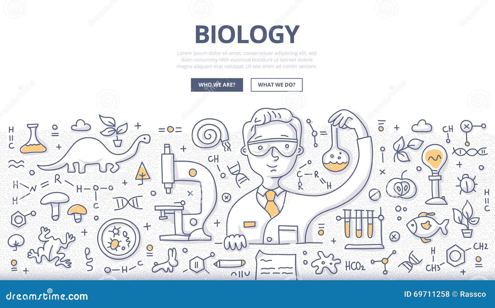 Έννοια Doodle της βιολογίας