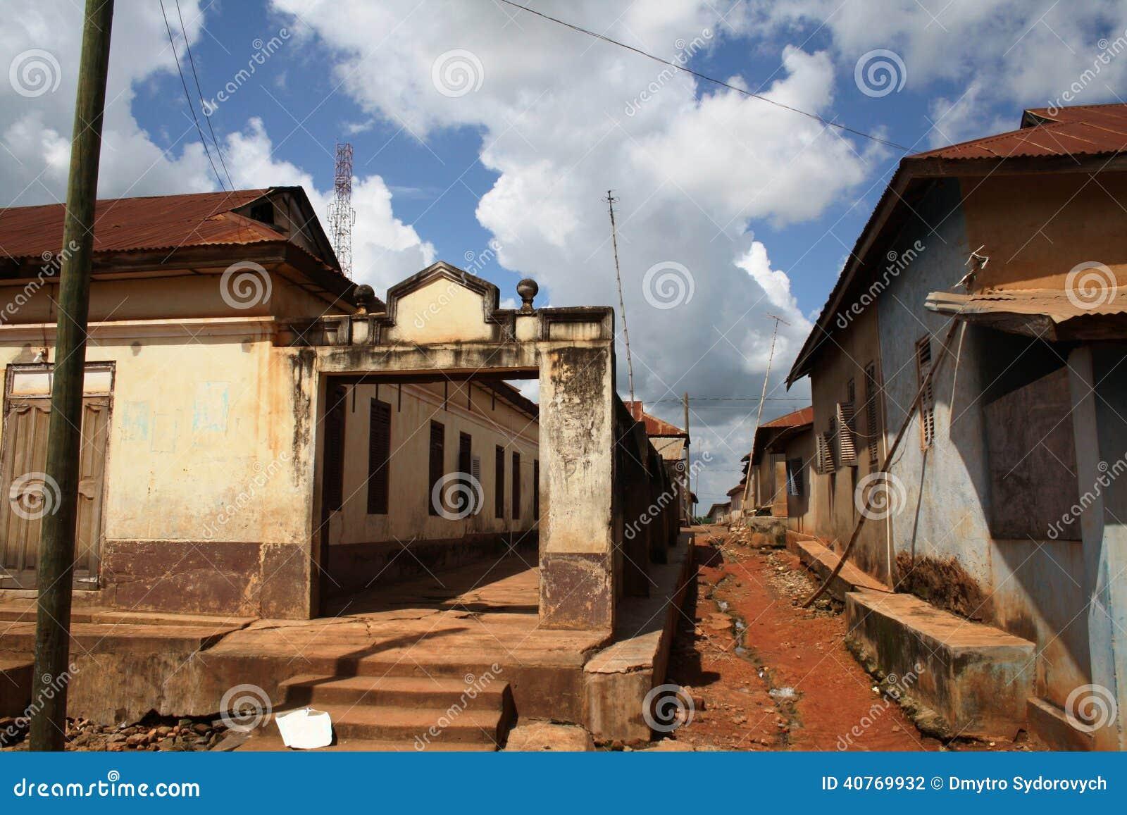 Ένδεια της παλαιάς από τη Γκάνα πόλης
