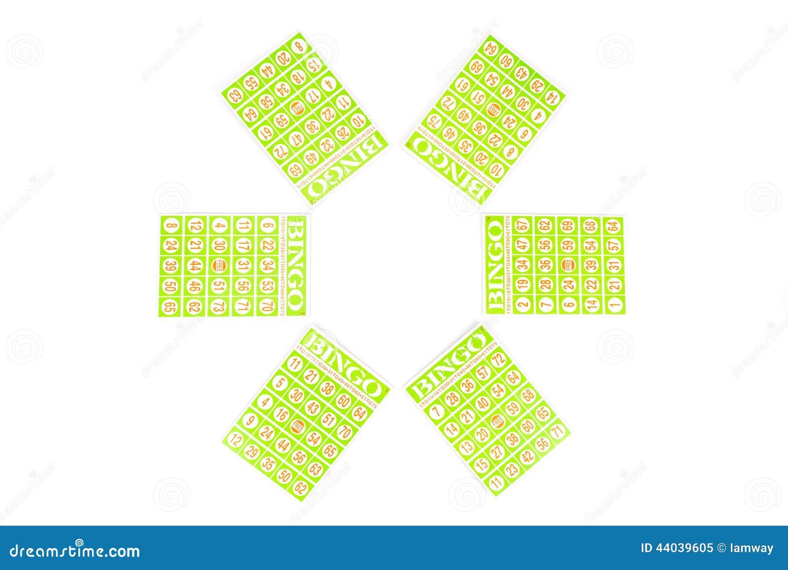 Έξι από την κάρτα bingo έτοιμη να είναι παιχνίδι