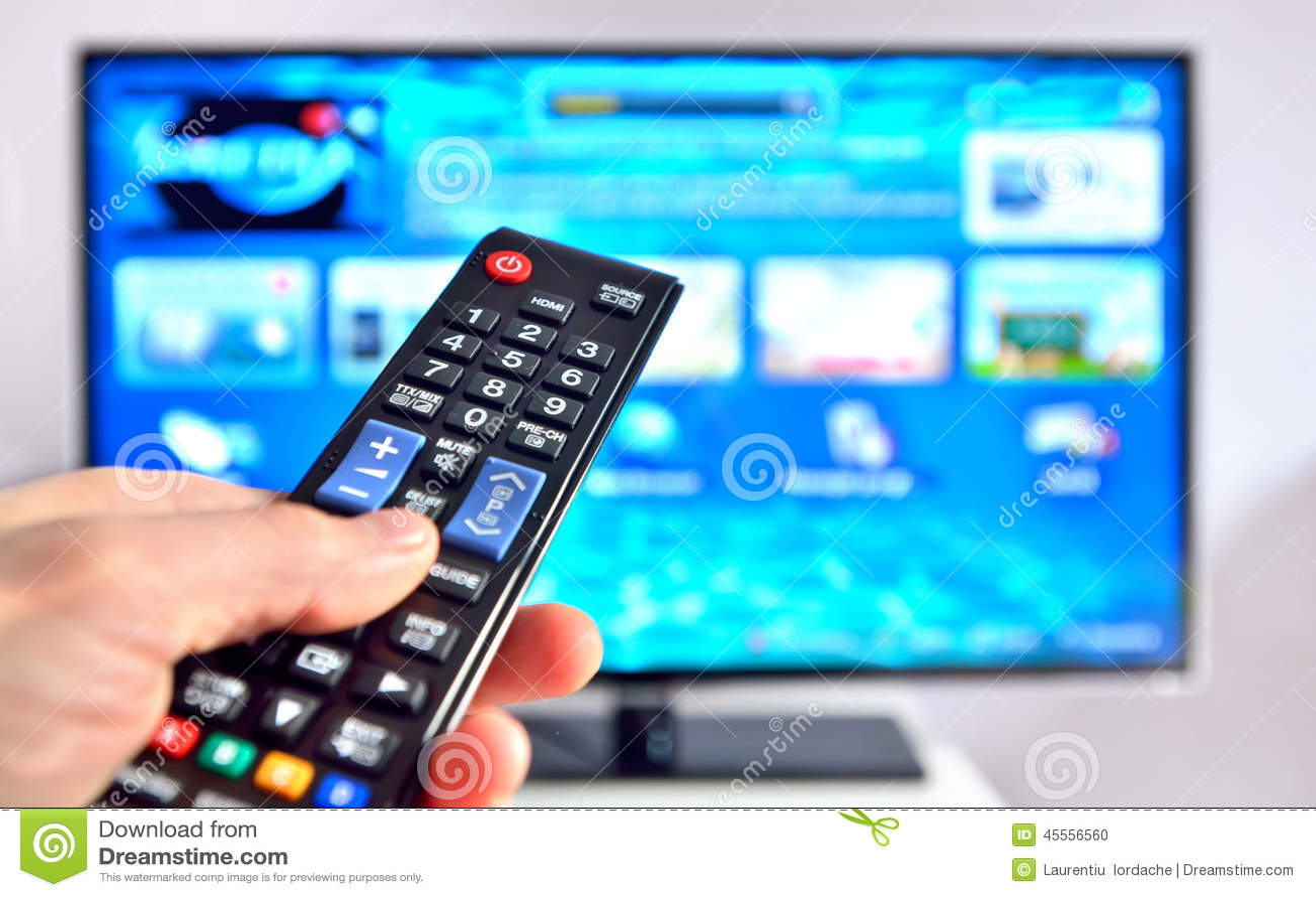 Έξυπνος τηλεχειρισμός πίεσης TV και χεριών