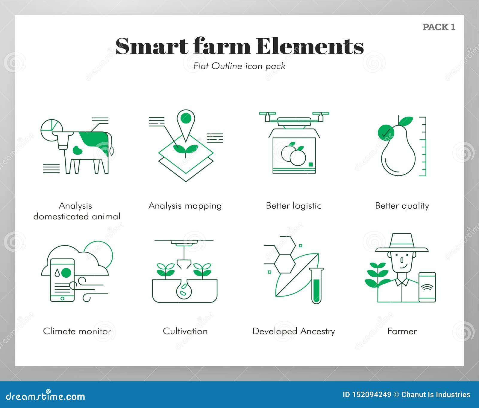 Έξυπνο πακέτο FlatOutline αγροτικών στοιχείων