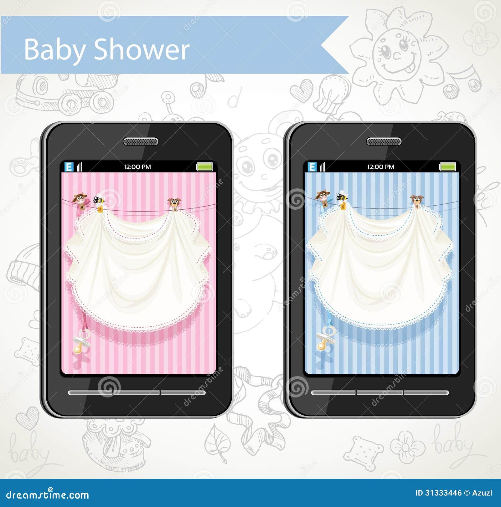 Έξυπνο τηλέφωνο με τις κάρτες μωρών ντους που επιλέγουν