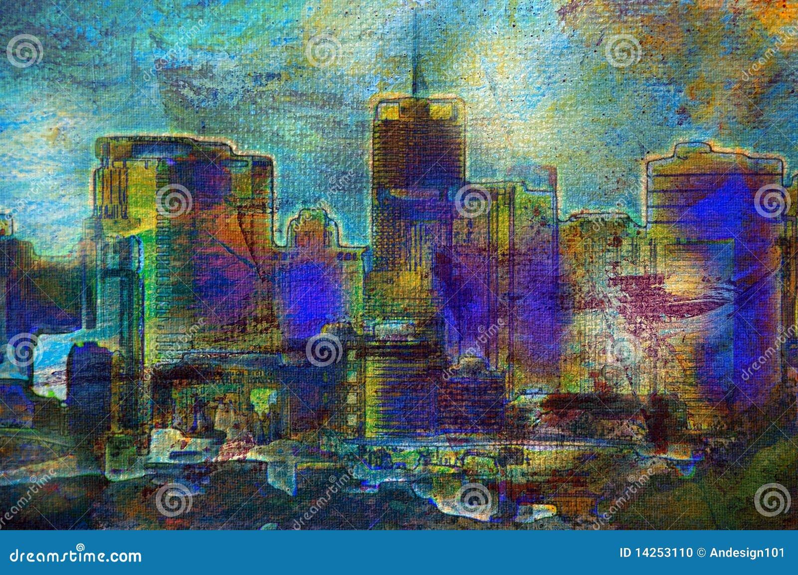 έργα ζωγραφικής πόλεων