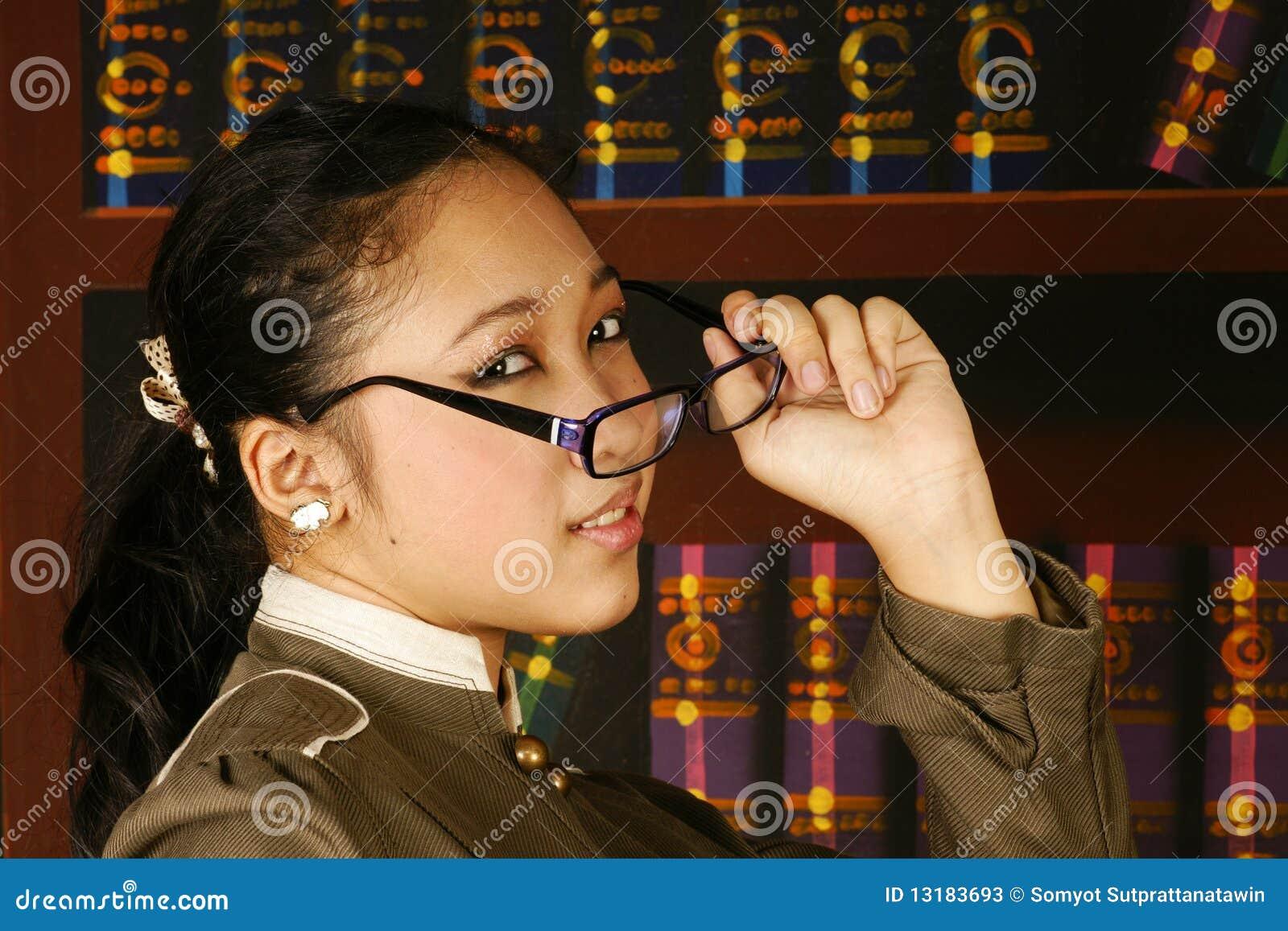 έφηβος γραφείων γυαλιών &kappa