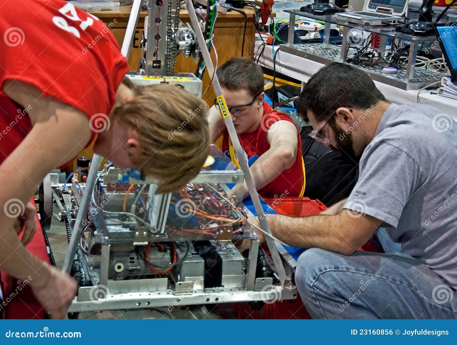 έφηβος τεχνολογίας επιστήμης ανταγωνισμού πρώτος