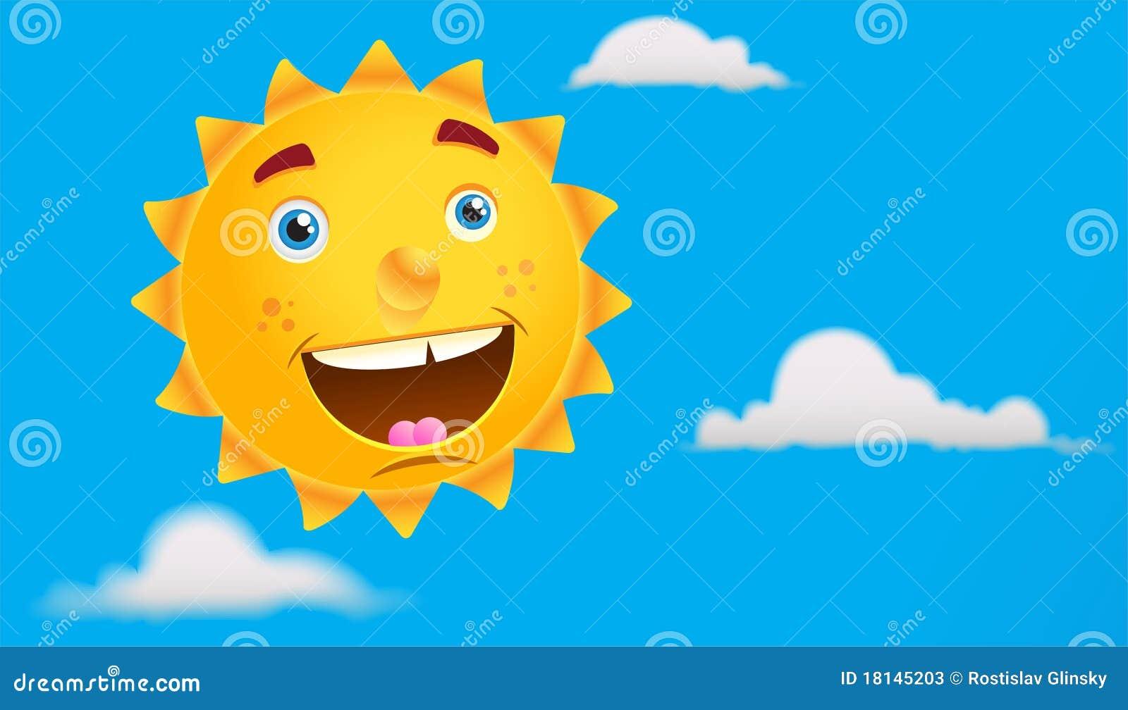 ήλιος χαμόγελου μπλε ο&