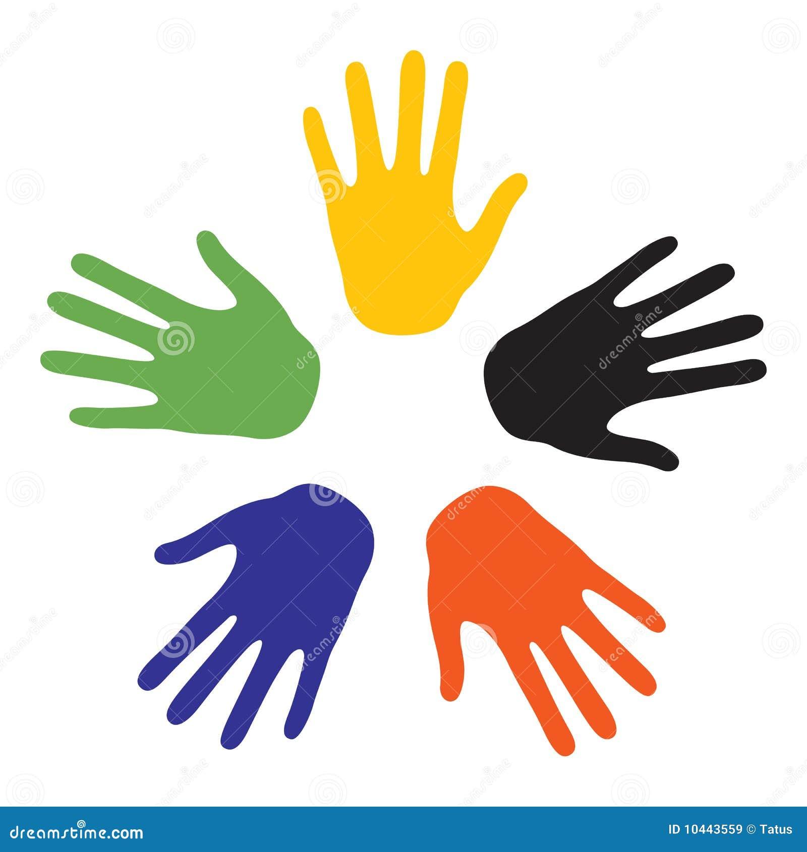 ήπειροι χρωμάτων πέντε σημάδ&i