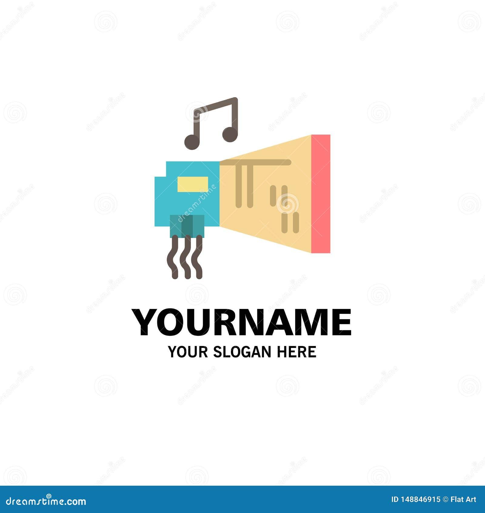 Ήχος, αμμοστρωτική μηχανή, συσκευή, υλικό, πρότυπο λογότυπων μουσικής βιομηχανίας Επίπεδο χρώμα