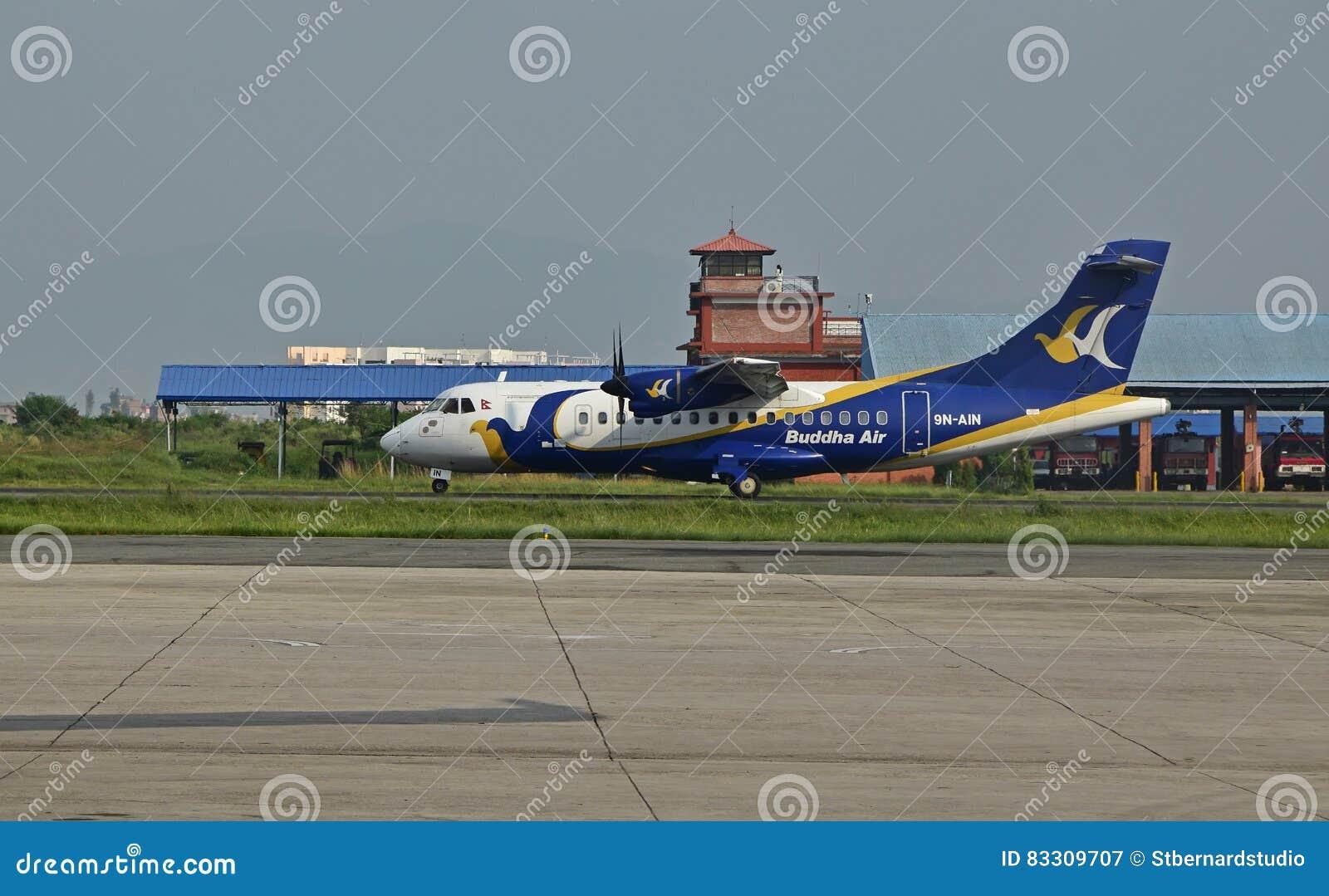 Αέρας του Βούδα στο διεθνή αερολιμένα του Νεπάλ Tribhuvan