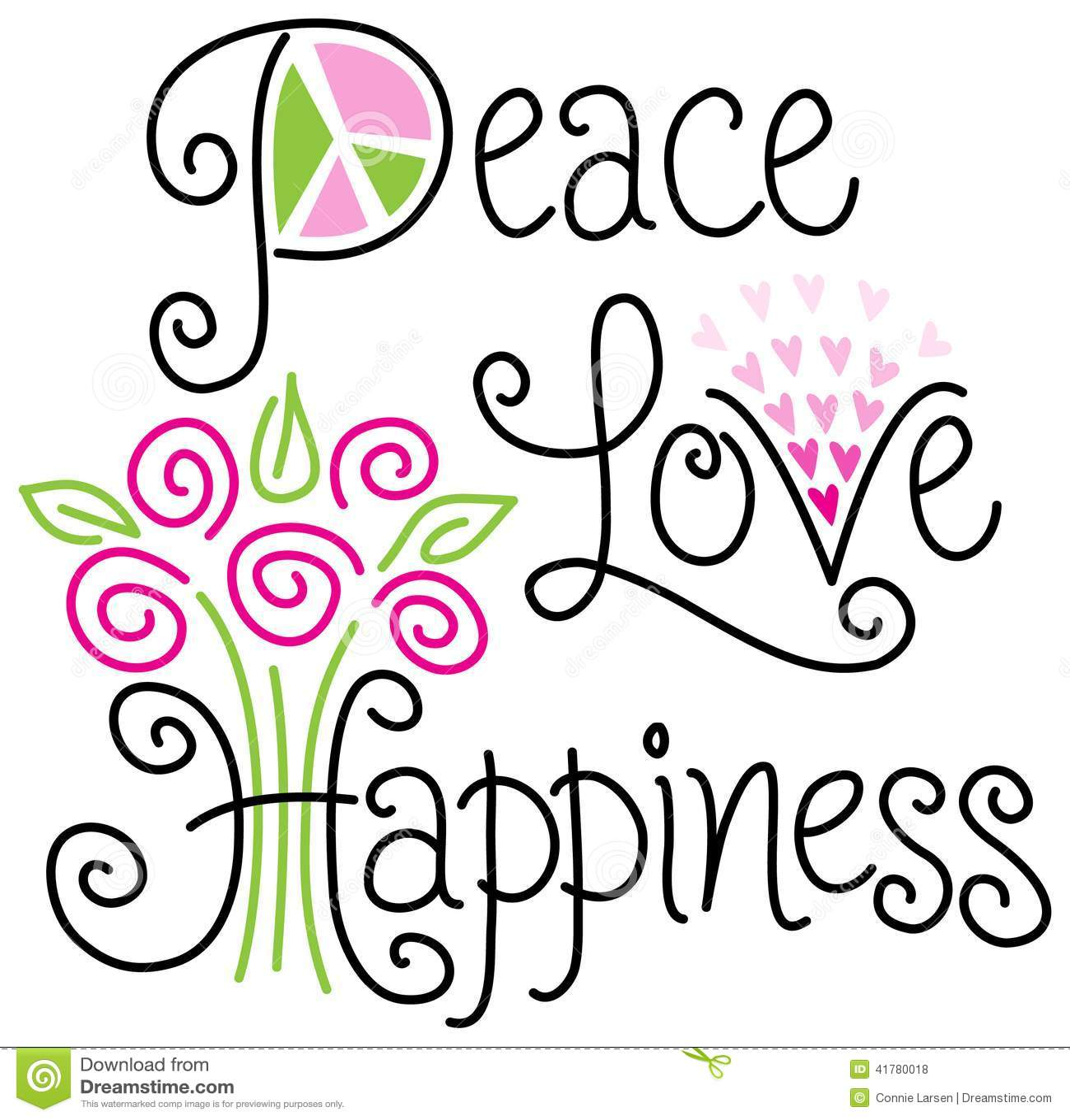 Αγάπη και ευτυχία ειρήνης