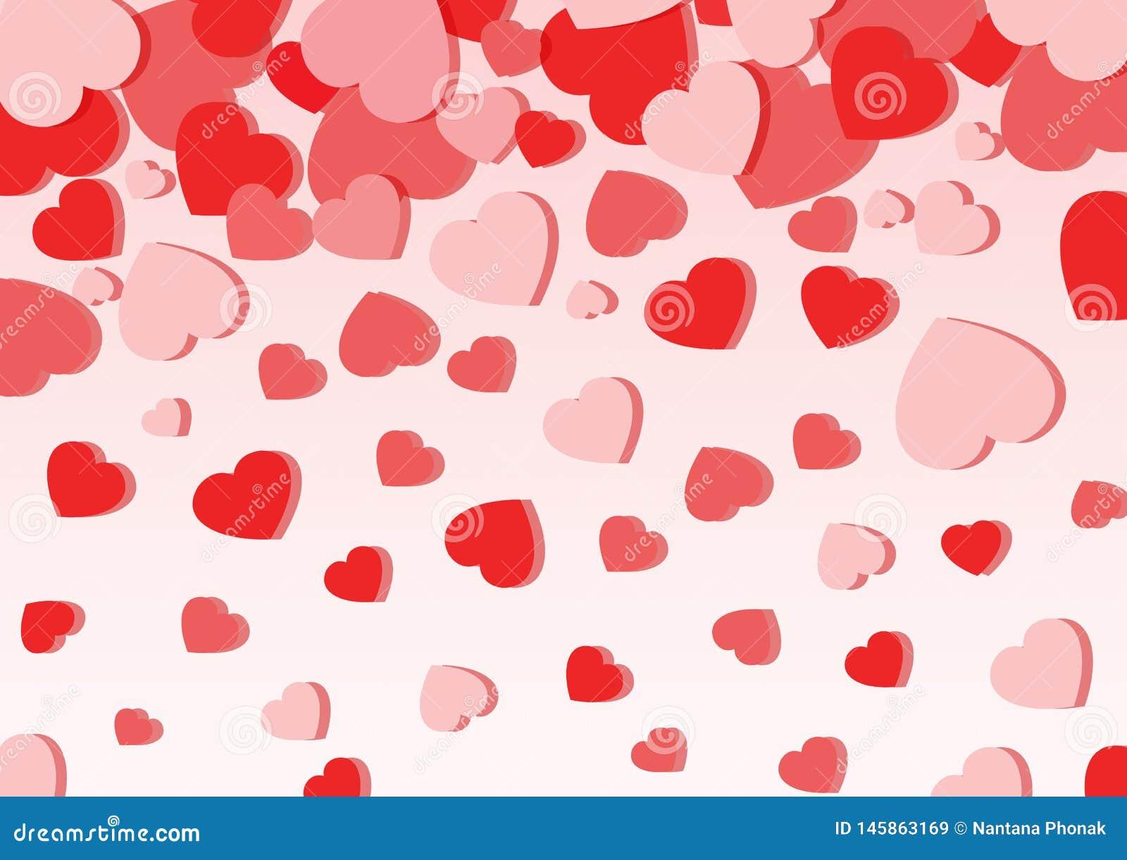 Αγάπη καρδιών στο ρόδινο υπόβαθρο