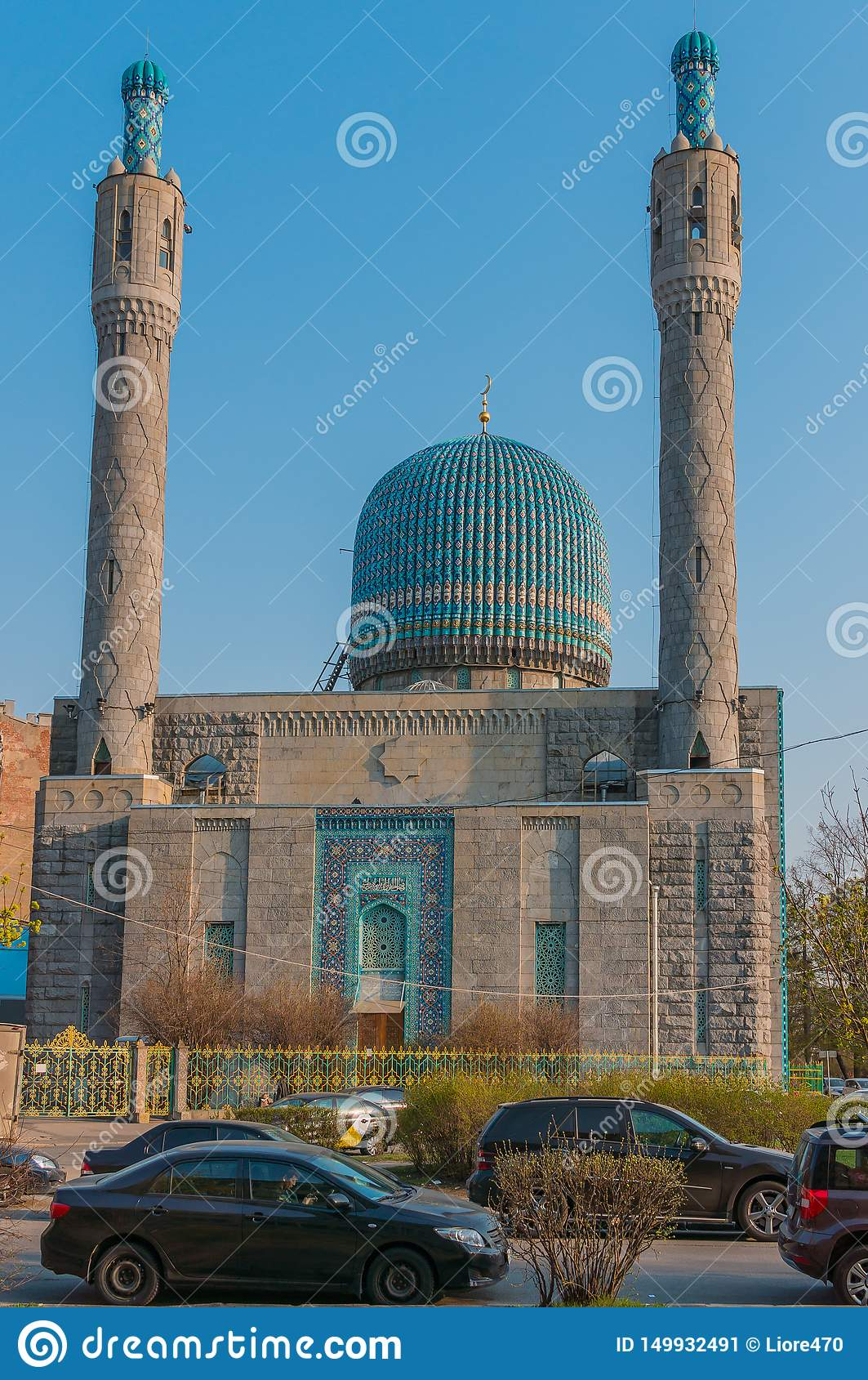 Αγία Πετρούπολη, Ρωσία - 04 26 2019: Το μουσουλμανικό τέμενος καθεδρικών ναών της Αγία Πετρούπολης είναι ένα θρησκευτικό κτήριο Τ