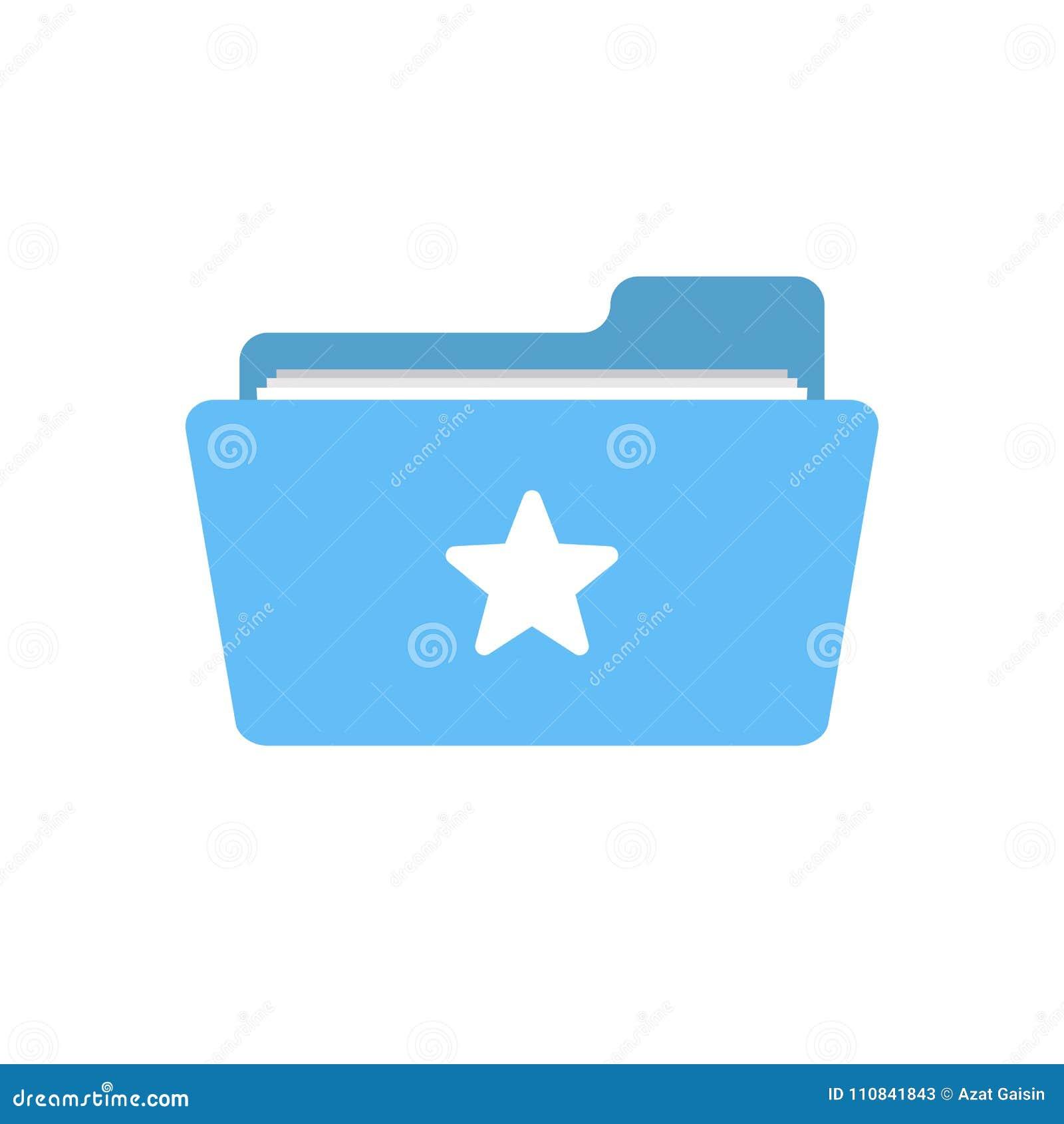 Αγαπημένος φάκελλος σελιδοδεικτών όπως το εικονίδιο αστεριών σημαδιών αγάπης