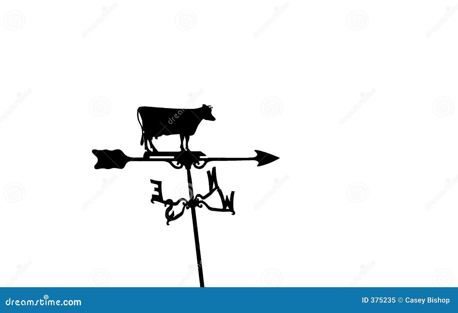 αγελάδα weathervane