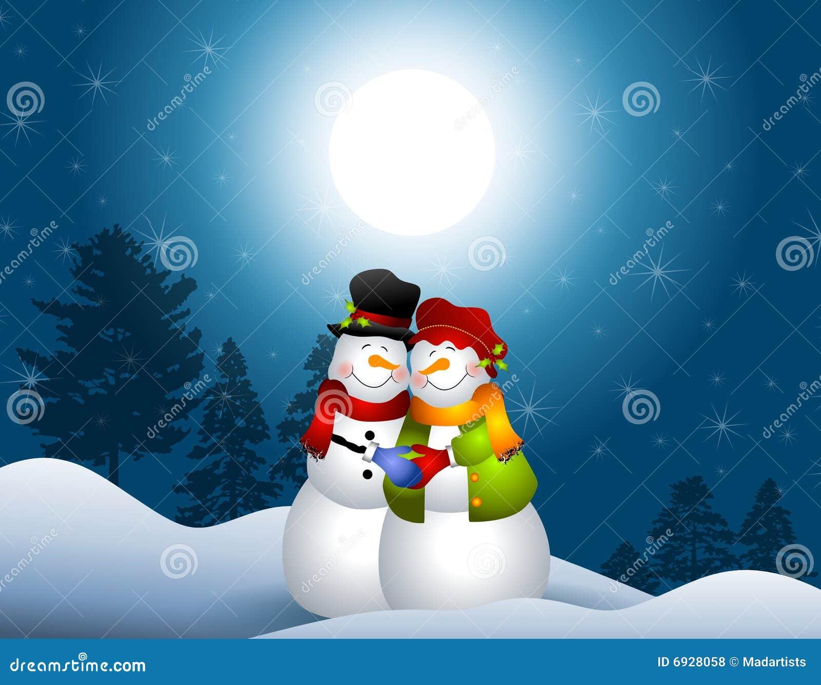 αγκάλιασμα των χιονανθρώπ