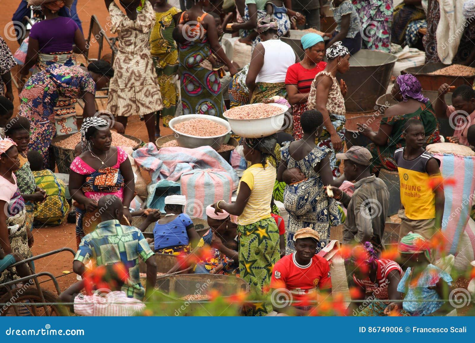 Αγορά στο Μπενίν, Αφρική