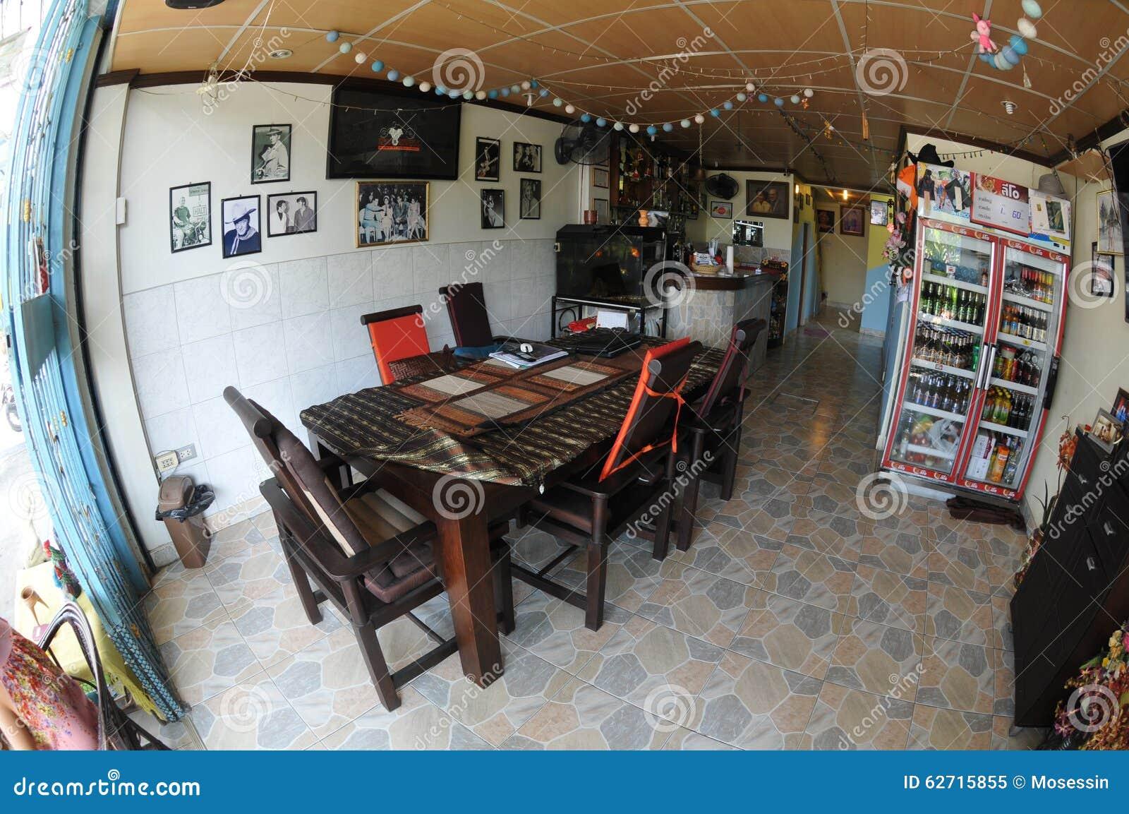 Αγροτικό εσωτερικό σχέδιο εστιατορίων