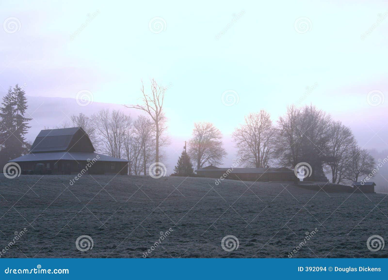 αγροτικό παγωμένο πρωί