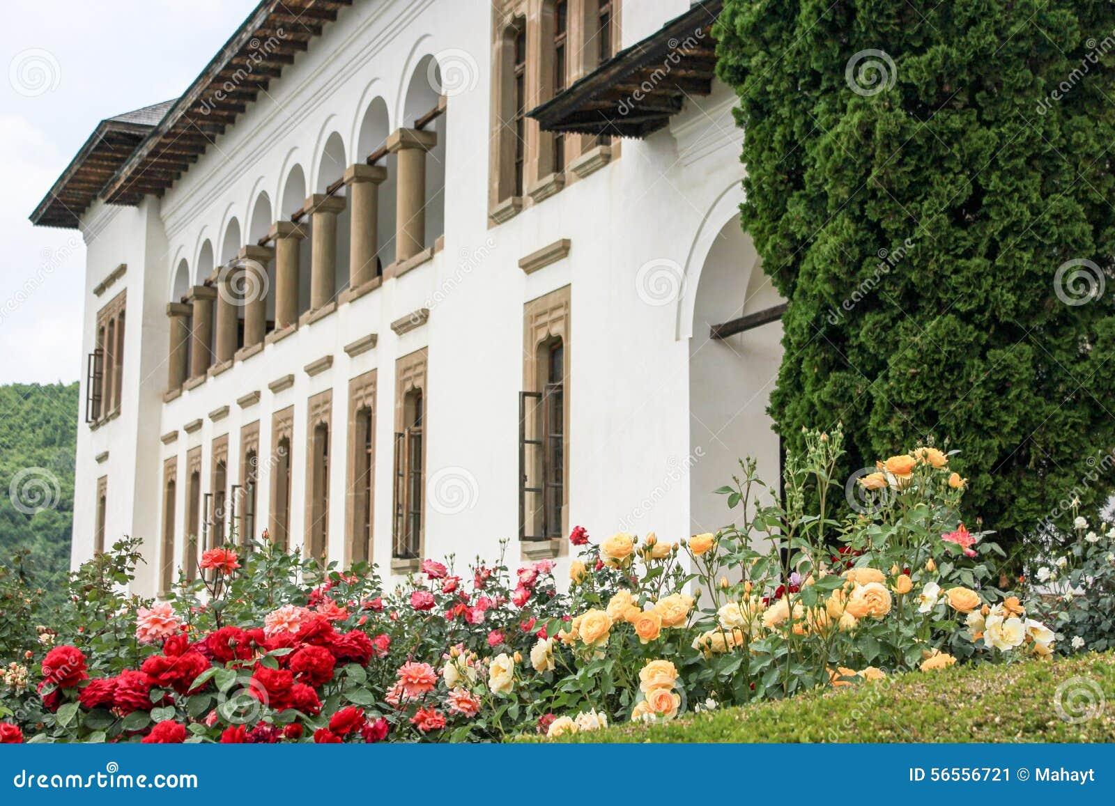 Download Αγροτικό τοπίο με το παλαιό μοναστήρι στη Ρουμανία Στοκ Εικόνα - εικόνα από θόλος, βακκινίων: 56556721