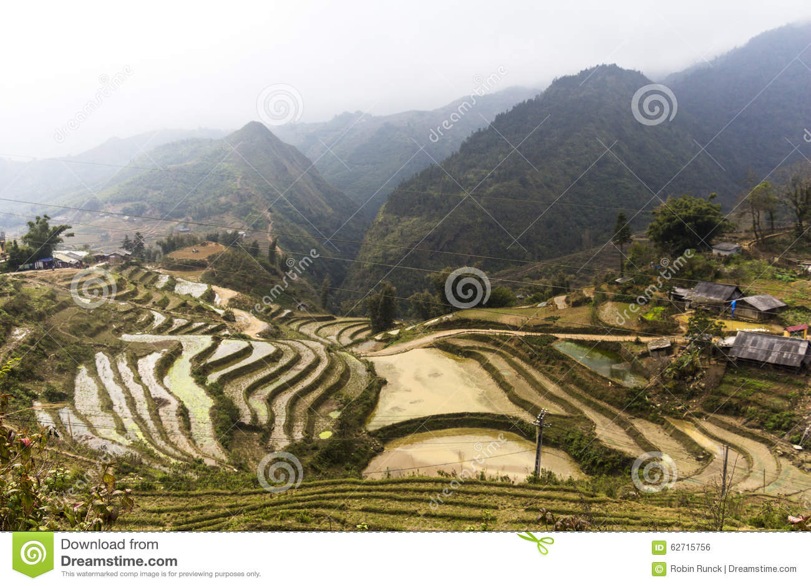 Download Αγροτικό τοπίο Sa PA, Βιετνάμ Στοκ Εικόνες - εικόνα από πράσινος, λόφος: 62715756