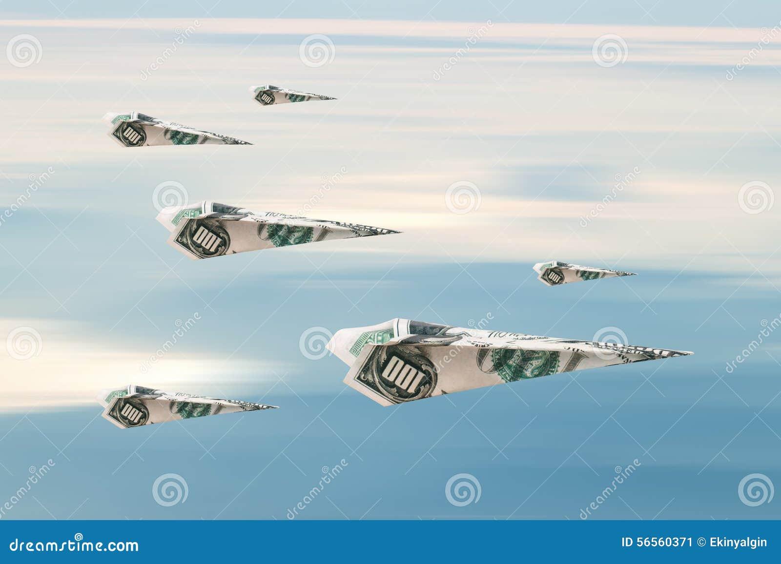 Download Αεροπλάνο δολαρίων στοκ εικόνα. εικόνα από οικονομικός - 56560371