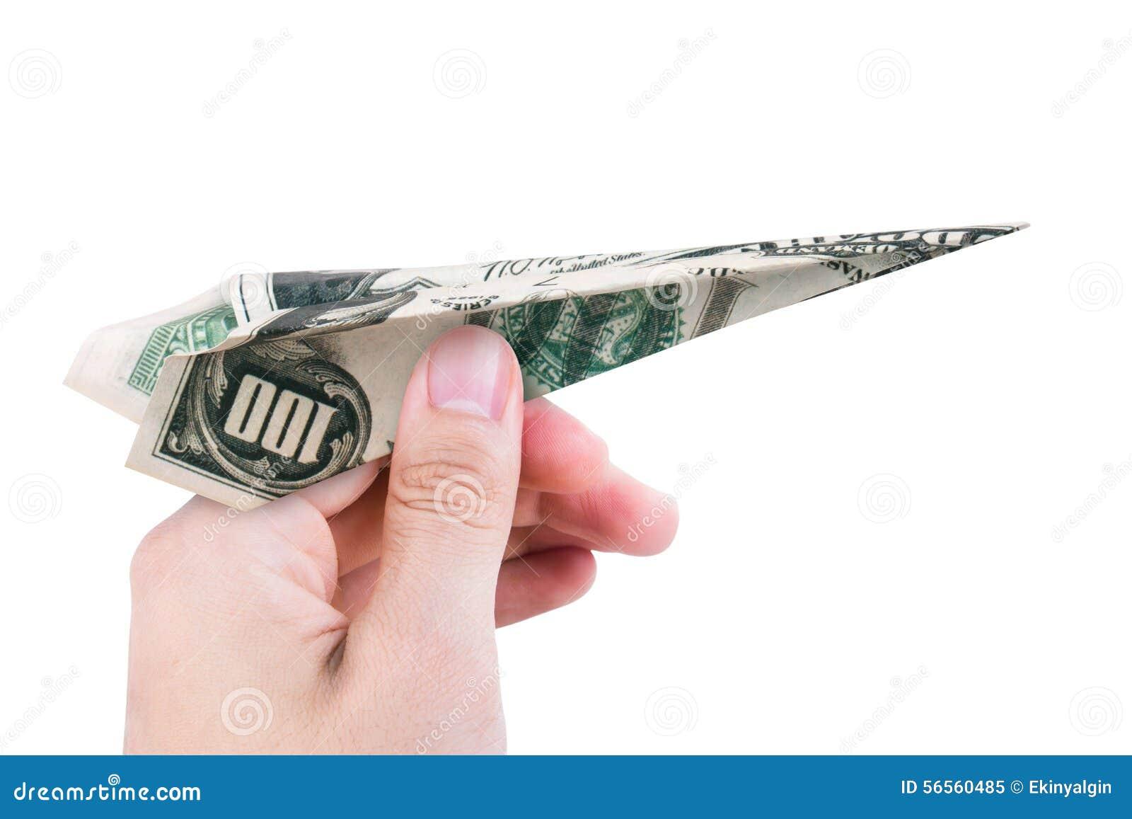 Download Αεροπλάνο δολαρίων στοκ εικόνα. εικόνα από ξένος, επιχείρηση - 56560485
