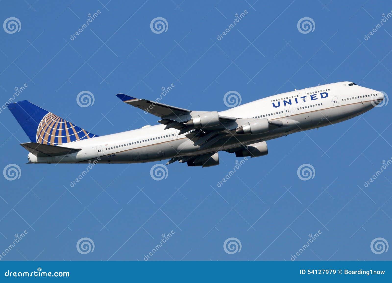 Αεροπλάνο των United Airlines Boeing 747-400