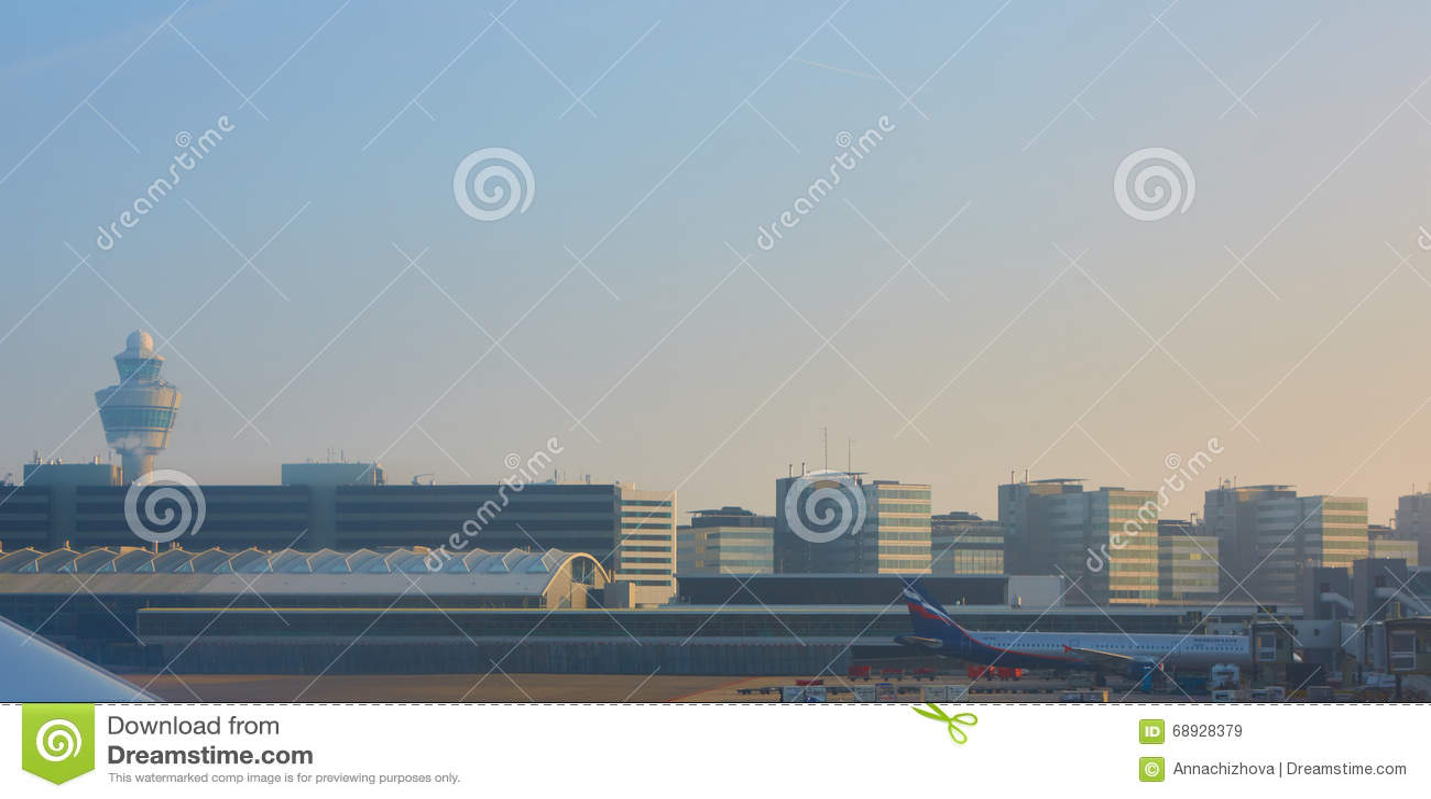Αερολιμένας Schiphol του Άμστερνταμ στις Κάτω Χώρες