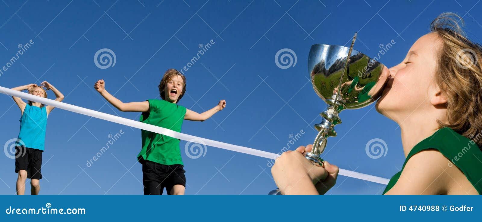 αθλητική νίκη φυλών παιδιών