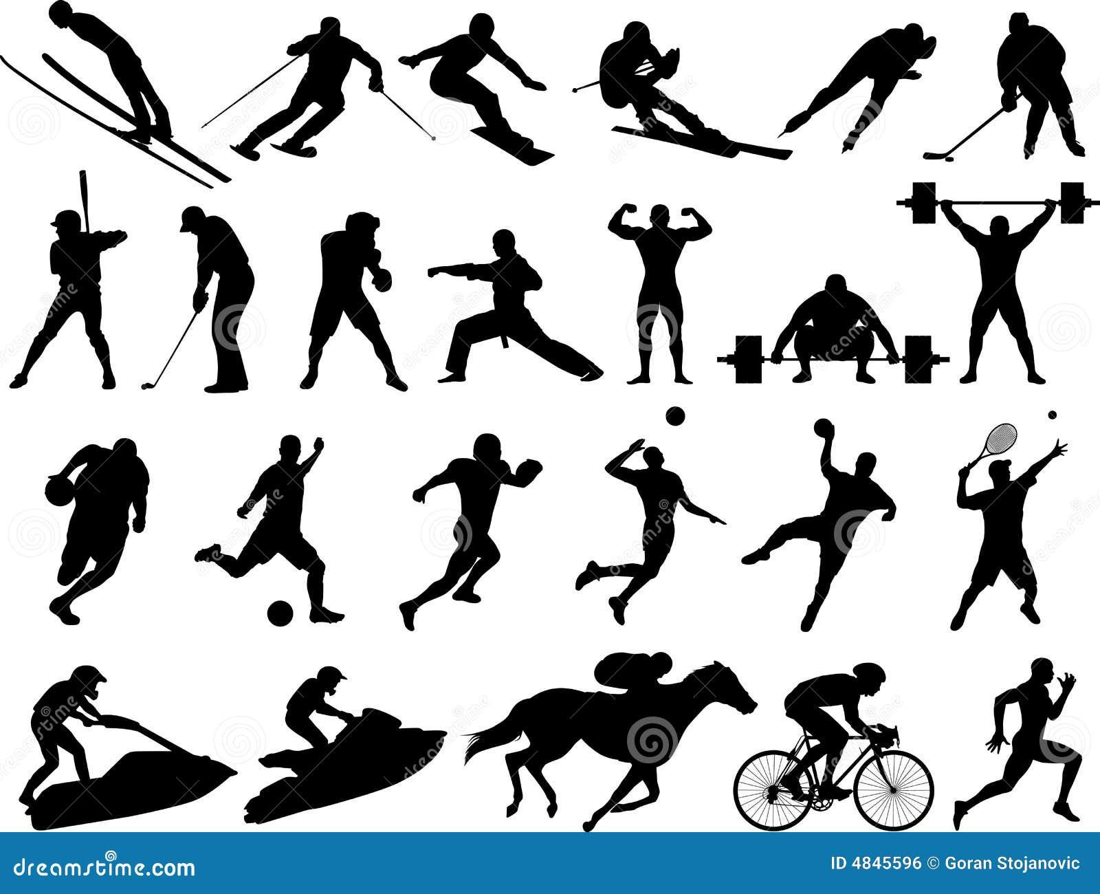 αθλητικό διάνυσμα σκιαγ&rh
