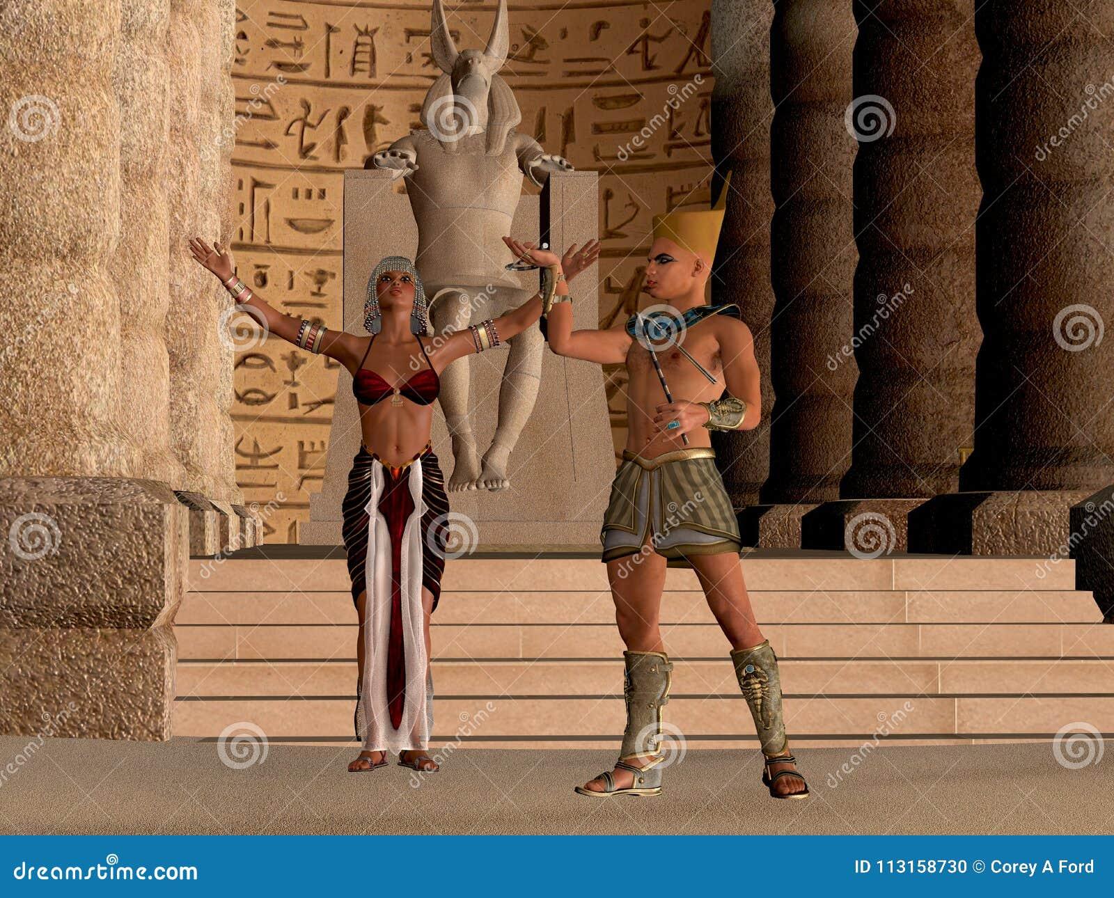 Αιγυπτιακό ζεύγος στο ναό