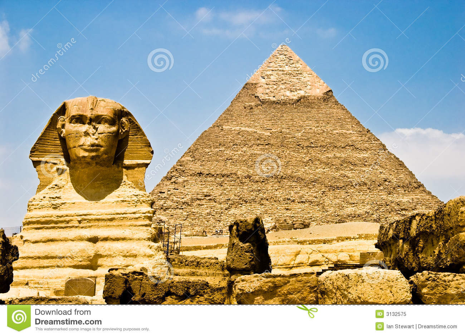 αιγυπτιακό phara φύλαξης sphinx