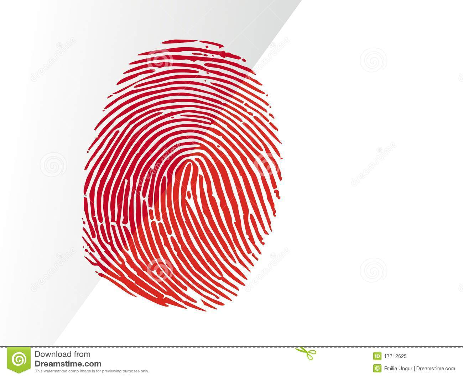 αιματηρό δακτυλικό αποτύπ&