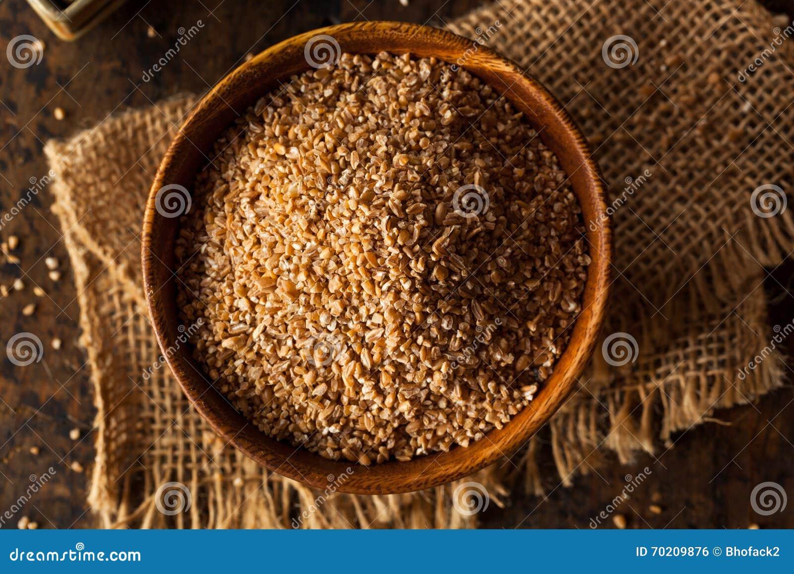 Ακατέργαστος οργανικός ολόκληρος ραγισμένος σιτάρι σίτος