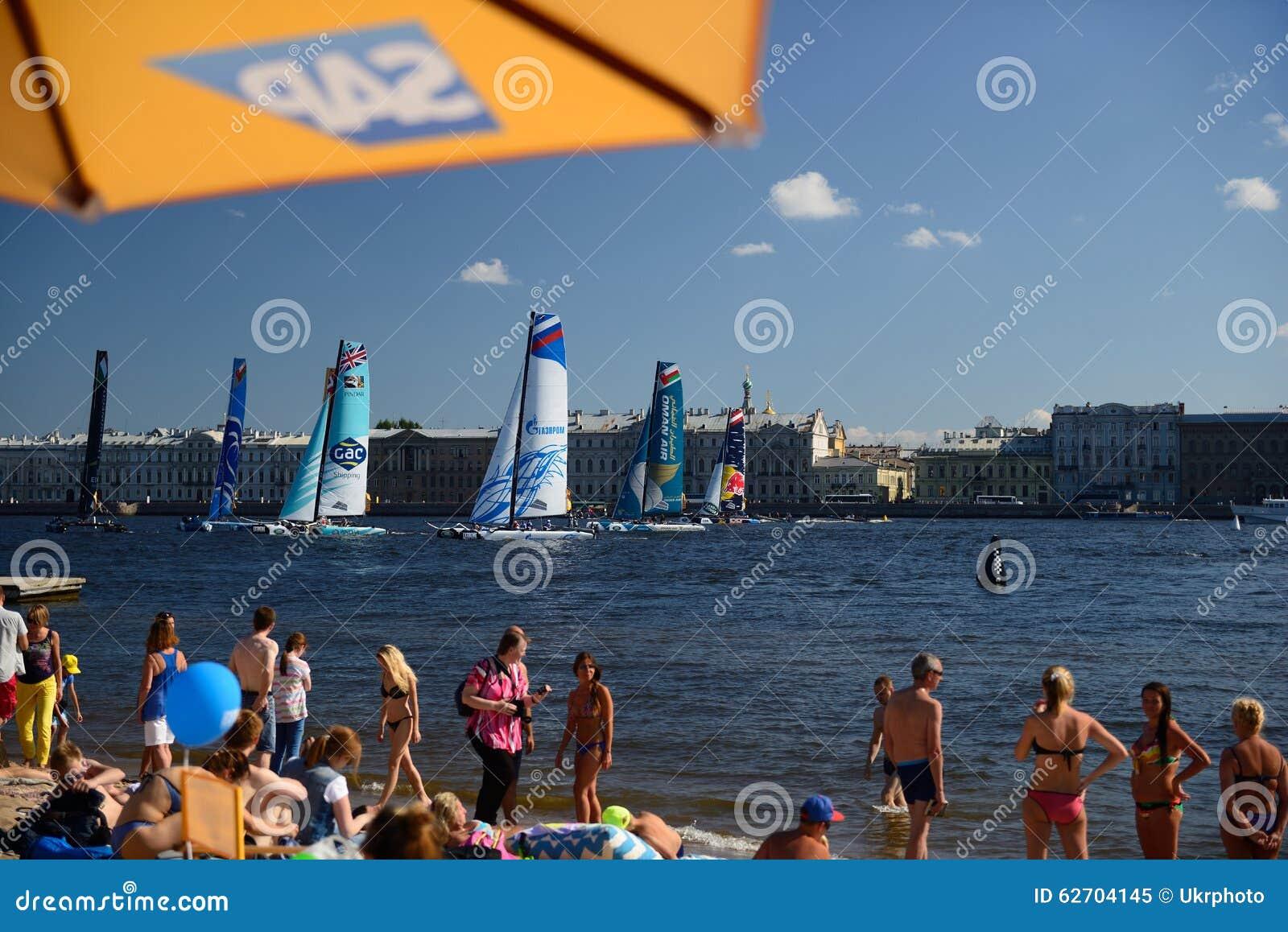 Ακραία σειρά ναυσιπλοΐας στη Αγία Πετρούπολη, Ρωσία