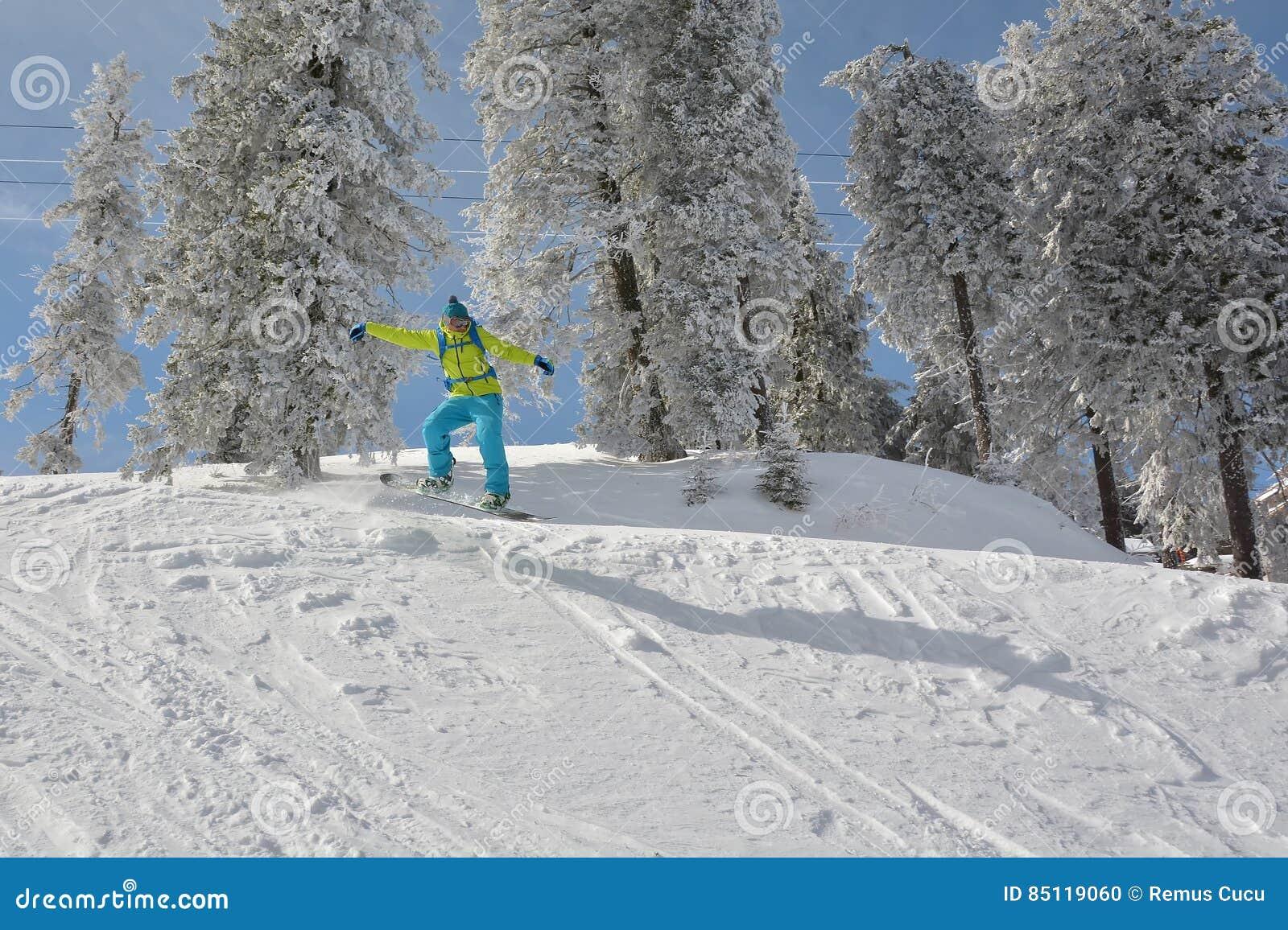 ακραίο snowboarder