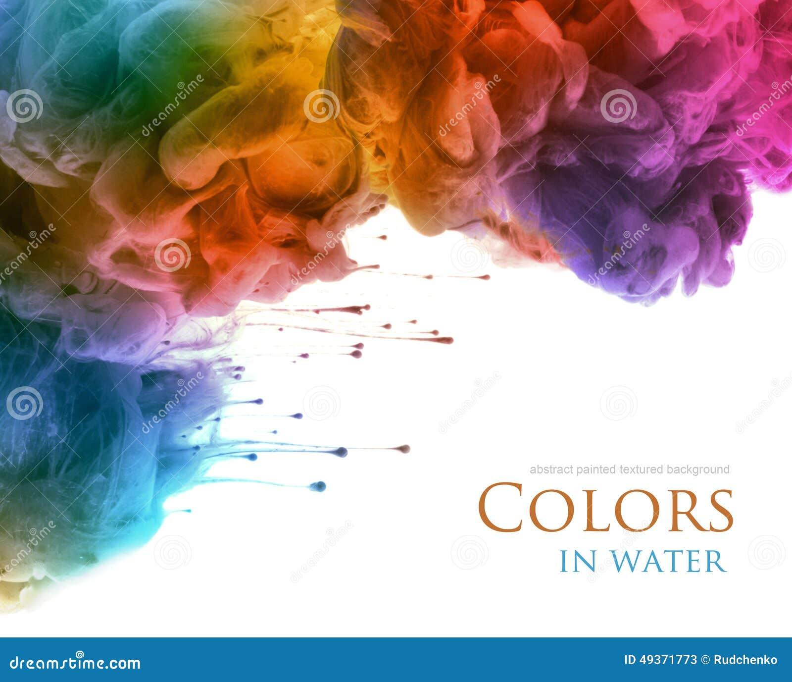 Ακρυλικά χρώματα και μελάνι στο νερό αφηρημένη ανασκόπηση