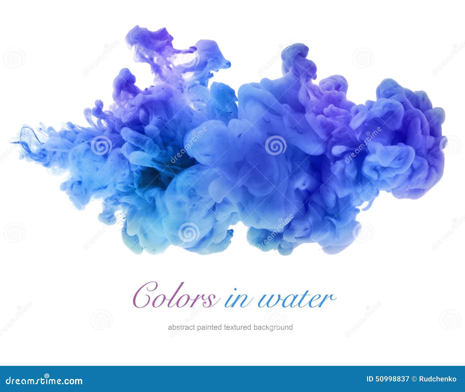 Ακρυλικά χρώματα στο νερό αφηρημένη ανασκόπηση