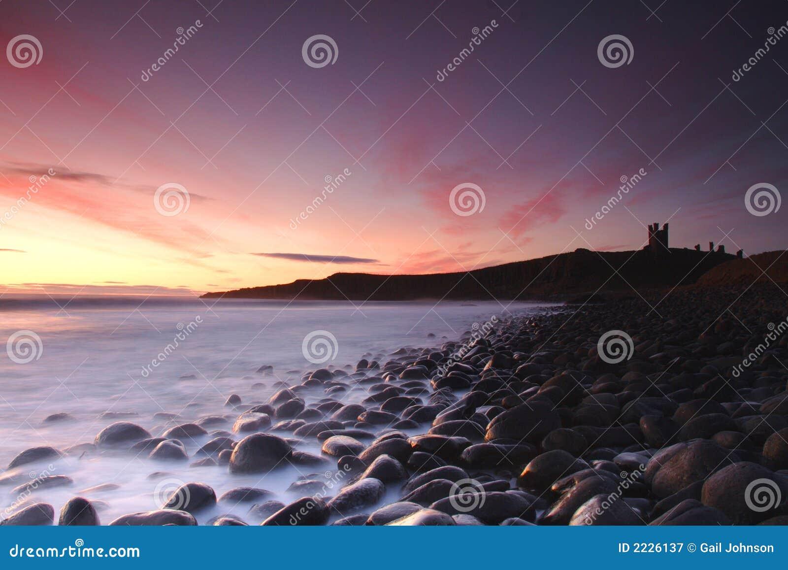 ακτή κάστρων dunstanburgh