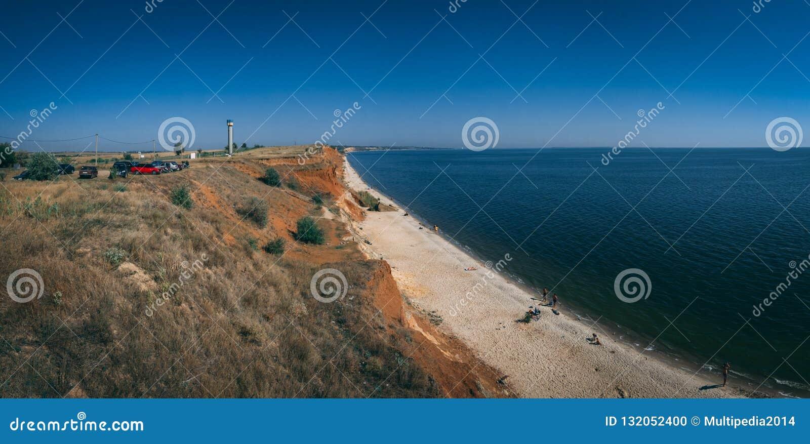 Ακτή και παραλίες σε Ochakov, Ουκρανία