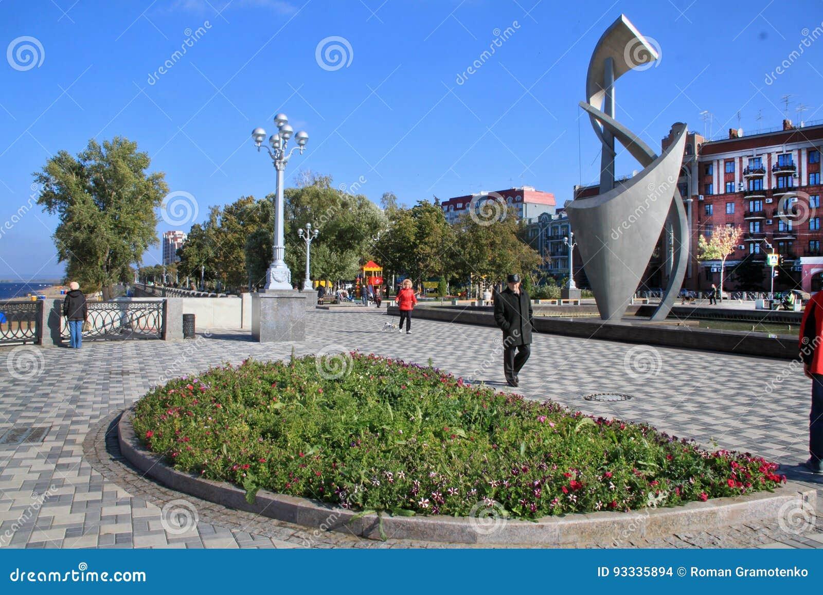 Ακτή στην πόλη της Samara, Ρωσική Ομοσπονδία