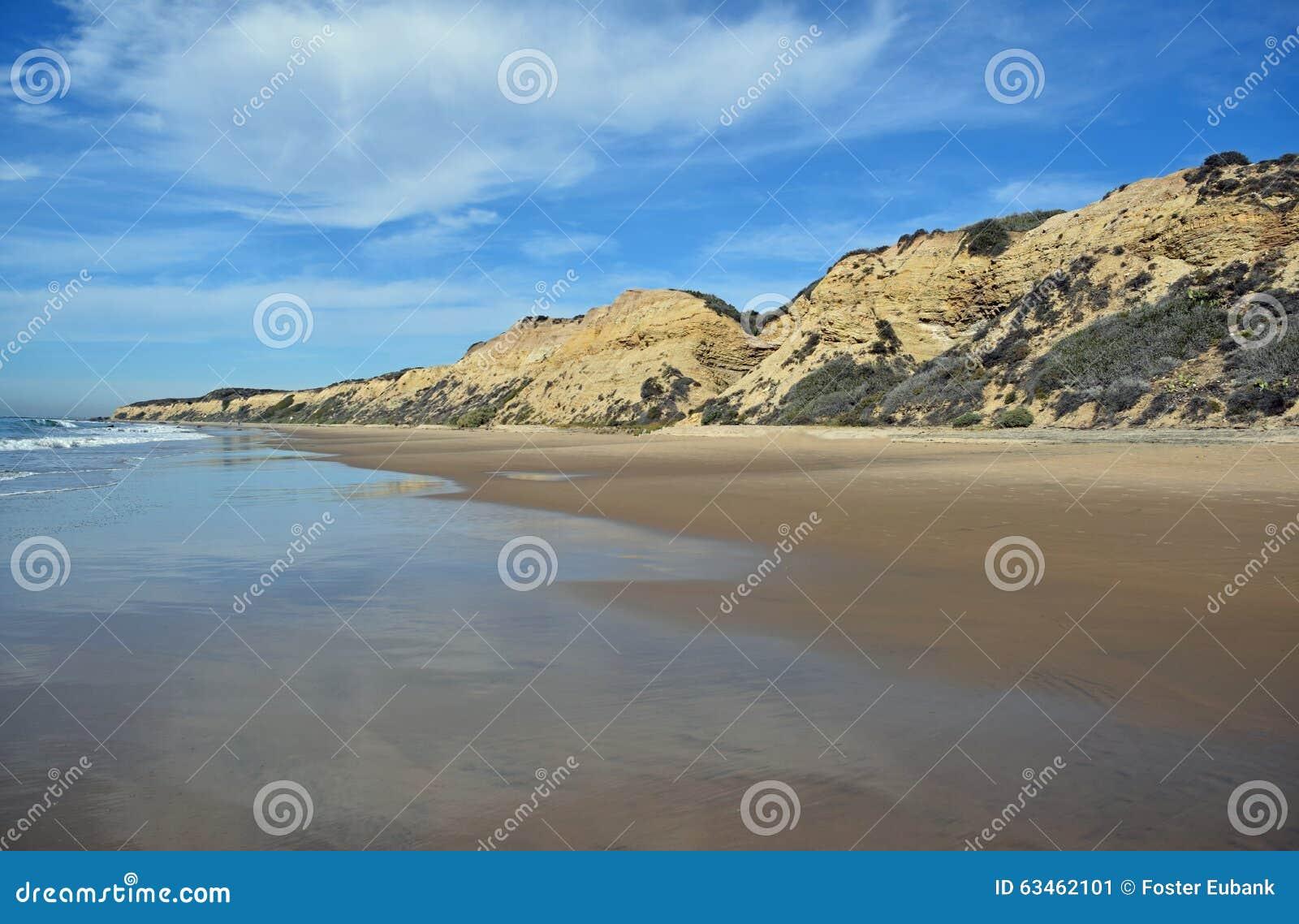 Ακτή στο κρατικό πάρκο όρμων κρυστάλλου, νότια Καλιφόρνια