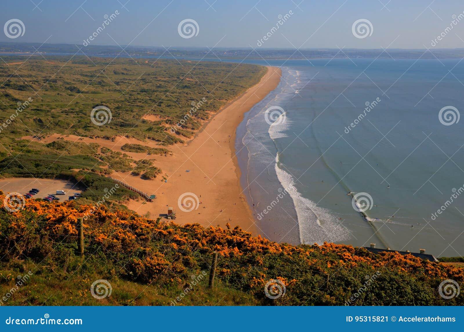 Ακτή του βόρειου Devon άμμων Saunton κοντά σε Croyde Αγγλία UK