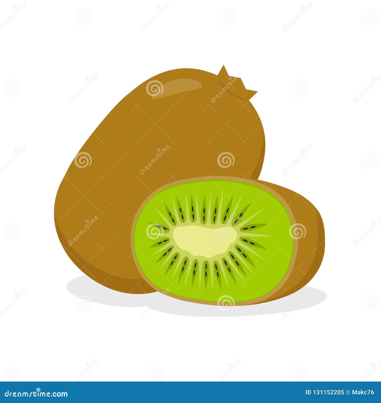 Ακτινίδιο, ολόκληρα φρούτα και μισός