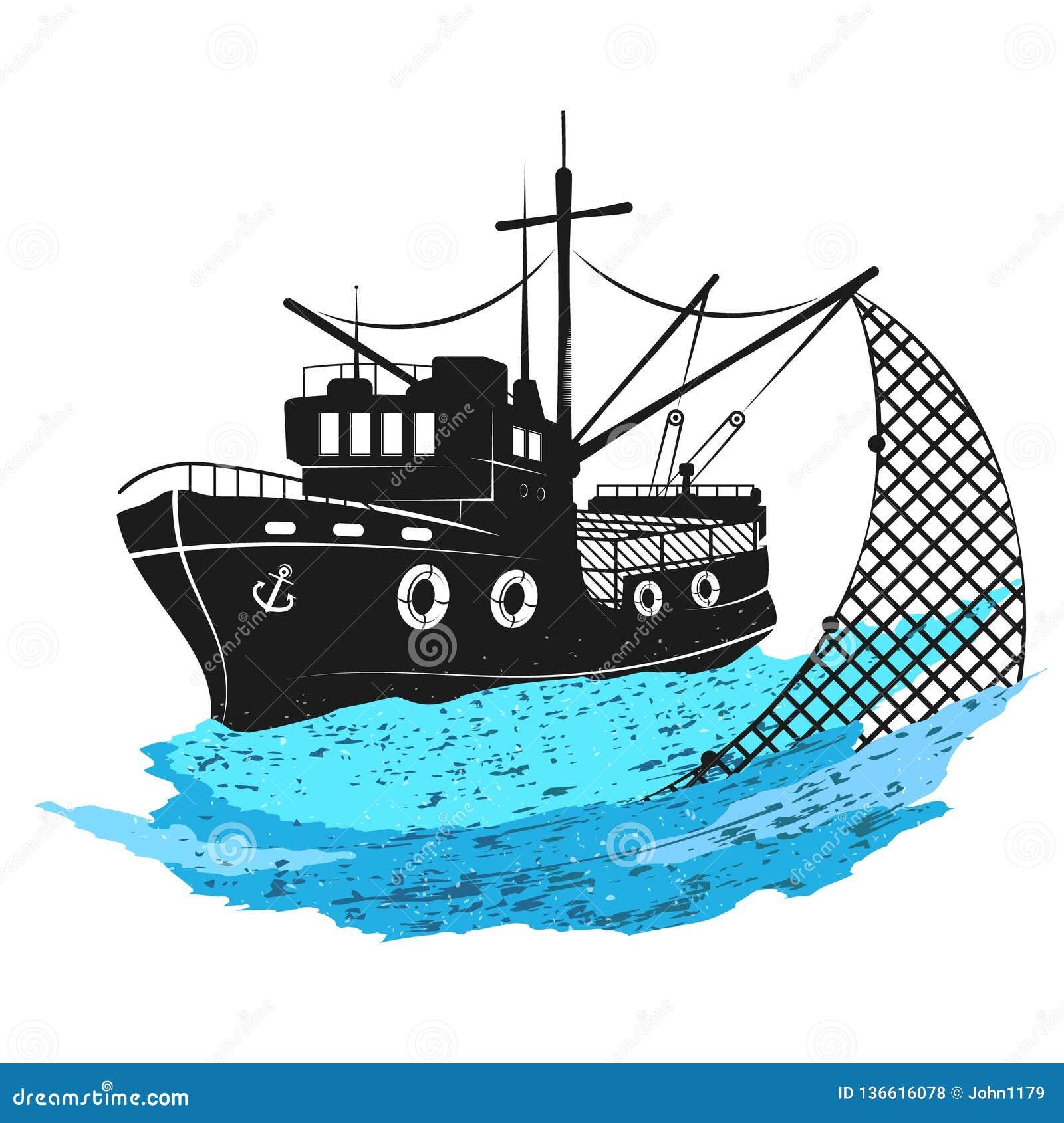 Αλιευτικό σκάφος με τα δίχτυα