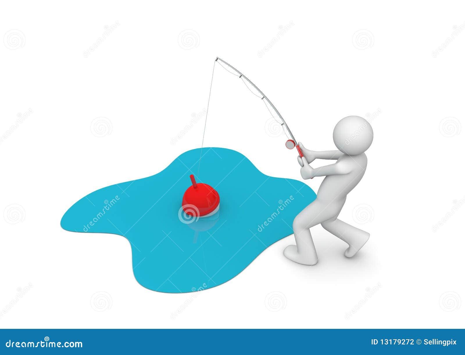 αλιεύοντας άτομο