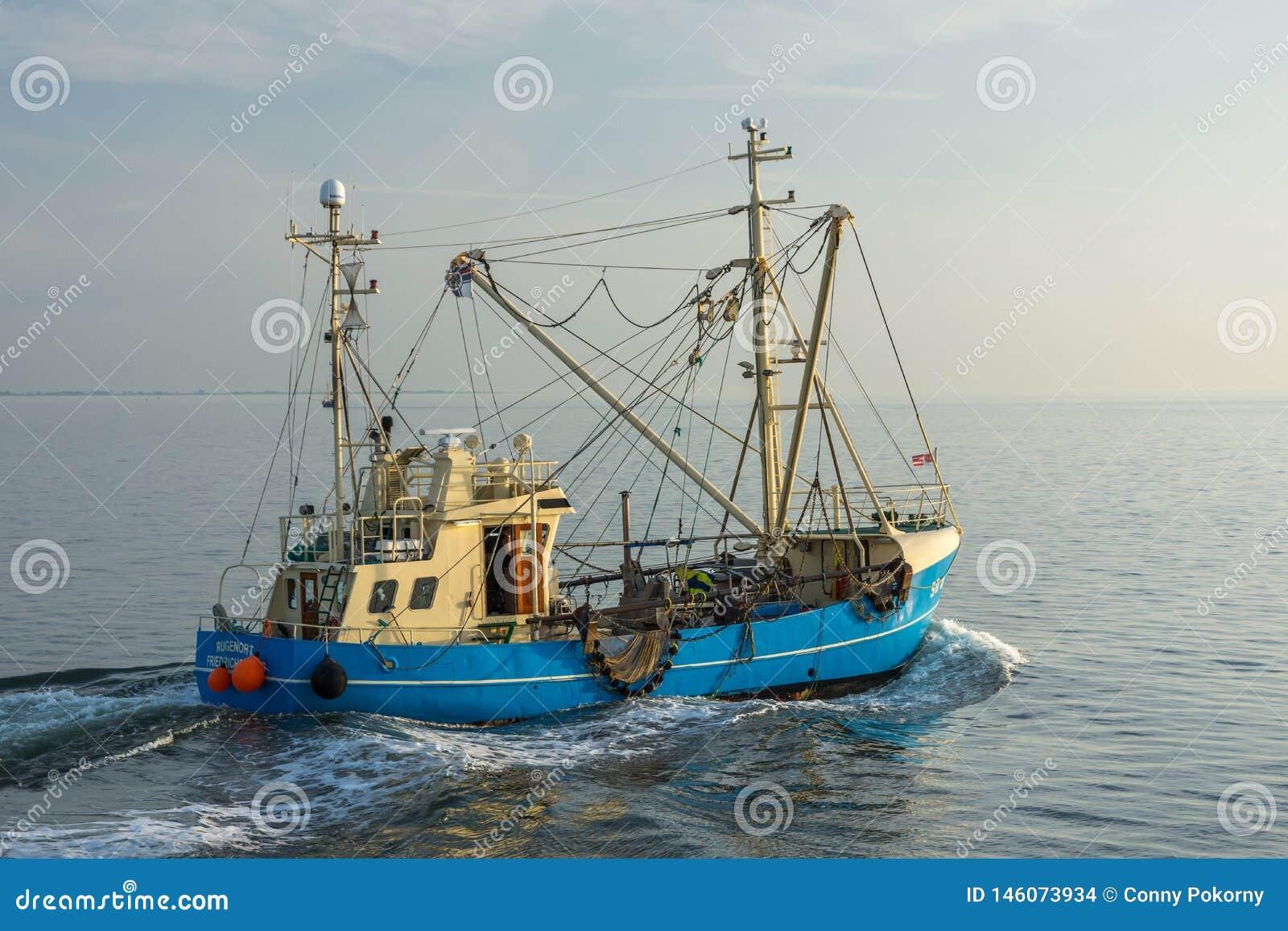 Αλιεύοντας αλιευτικό πλοιάριο, Βόρεια Θάλασσα