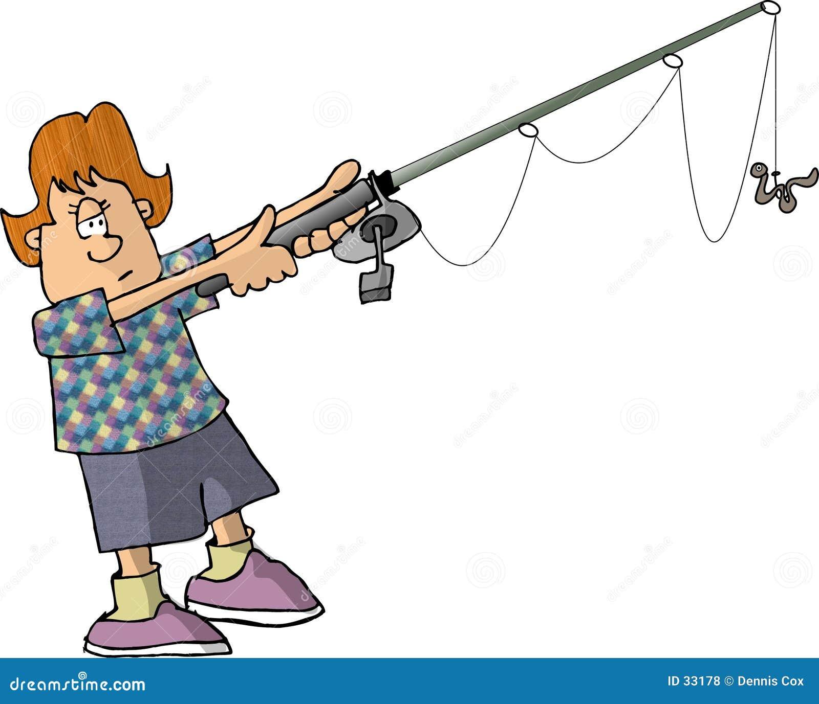 αλιεύοντας κορίτσι