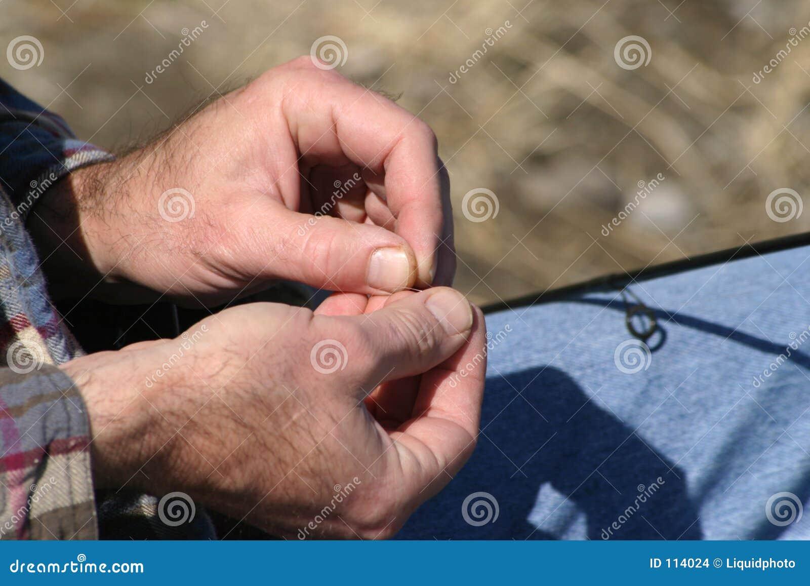 αλιεύοντας χέρια